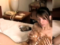 Feminine ladyboy shows spy while her drunk passed out wife cum and jerks off till cumshot
