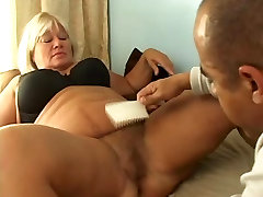 Blondy Mature BBW and big cock
