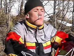 Pic sex porn gay oil Roma Smokes In The Snow