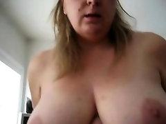 BBW mariana mojica with big tits riding cock - POV