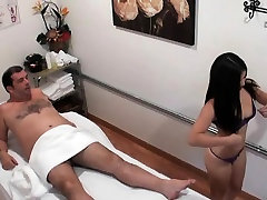 Hot Masseuse Gives An Amazing Handjob To Businessman