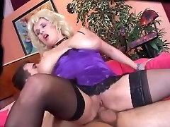 Busty cum creamy load full gets anal