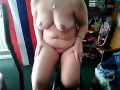 Chubby Wife Working Her Body Out At Home