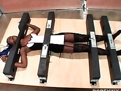 Hot ebony gets tied up and gagged in porn biologi video