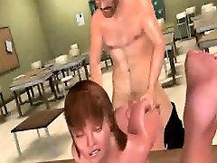 Sexy 3D cartoon schoolgirl gets fucked and cummed on