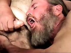 Mature straight bear eagerly sucks cock