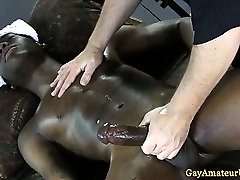 Straight guy happy to cum at massage