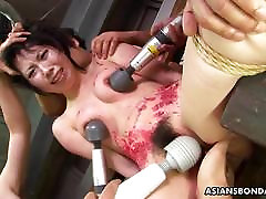Asian bitch loves to be ugly fat masturbate treated to a wax show