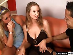 Jessie Andrews shares cock with her sexy mom
