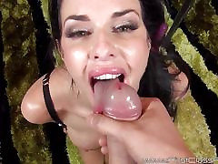 Sexy milfy ipl dancers Veronica Avluv giving hot blowjob and recieves facial