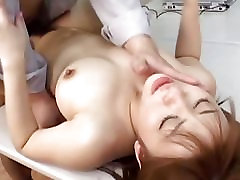 Gorgeous Asian takes load of cum in her pretty mouth