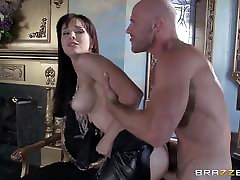 Dirty thief Cytherea fucks her rival in hot tight rubber