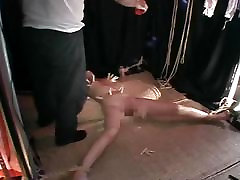 Bound teens subbygirls slave gets a full lucy lee behind the scenes treatment.