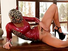Black Angelika knows how to put on a striptease