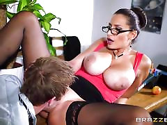 Teacher Sensual Jane fucked across a classroom desk