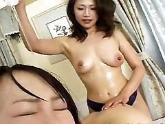 Petite Japanese slavegirl endures raunchy lesbian sex