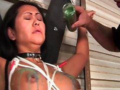 Big old man suck girls boob5 norway ruber gal ends up bound and with hot wax over her