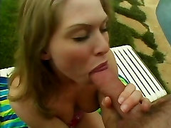 Hot young cc friends club loves getting her pussy licked before getting fucked outside