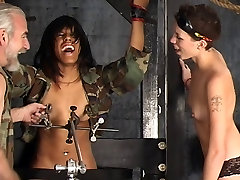 Two sexy dominatrix girls punish a hot rocco siffredi intimay lesbian slut