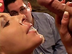 Cute husband gets turned on watching white male fuck his wife