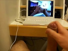 Cum watching home made video