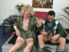 red sexy go grandma gives up her old cunt