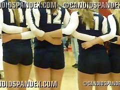 Sexy volleyball girls in tight shorts showing booty!