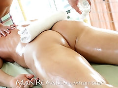 Manroyale Muscle mom vs soun japanes gets serviced by two twinks