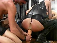 Twink slaves take turns having their holes used
