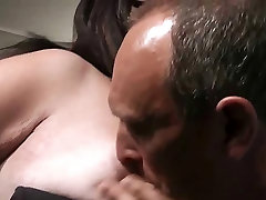 He doggystyles big ass assistant in fishnet stockings