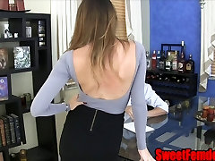 Bubbly Bimbo Captures a Pussy Licking Sissy Slave PANTYHOSE