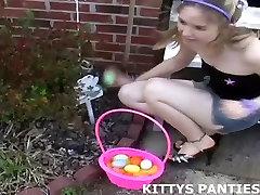 18yo teen Kitty playing football in a skirt