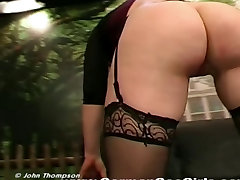 Sexy redhead babe with perfect tits gets get asshole fucked