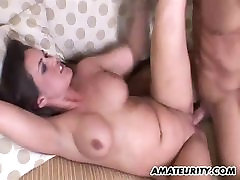 Busty amateur big black ass hole licking sucks and fucks with facial