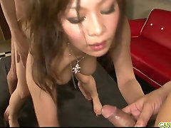 sunilyon full porn vidos babe Ren teasing and double penetrated