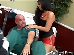 Male nurse totally dominated by Ice La Fox