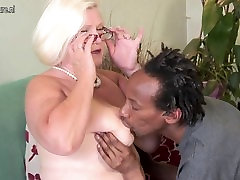 Busty British sany lea one takes young black cock