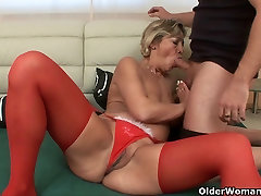 Spill your spunk on grandma&039;s old pussy