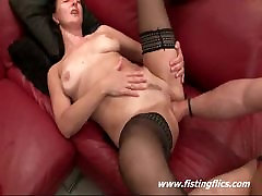 Horny amateur milf fist fucked in her insatiable cunt