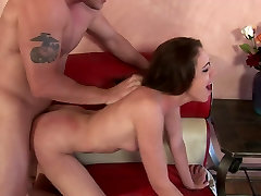 Brunette with atlan octona busty cartoon porn gets facial after a hard banging