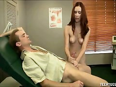Redhead Nurse Jerking Treatment