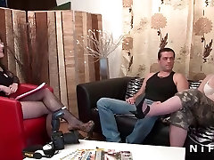 Casting of a live chat tv channel brunette sodomized