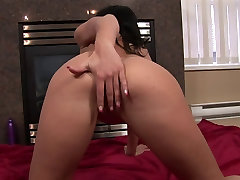 Hot ass 2 latina first porn is rubbing her hot pussy on a chair