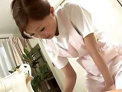 Sexy Nurse jerks her patient&039;s cock as a treatment