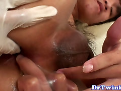 Asian twink doctor fisting his patient
