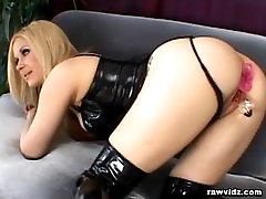 nasty blonde has raw dp sex