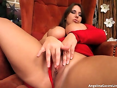 Angelina Castro & Lexxxi pussy creaming and squirts Striptease !