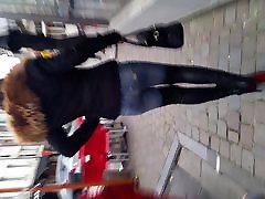 ex from behind julieskyhigh public street thigh high boots jeans