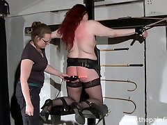 Lesbian domination of Louise and leggings solo fisting orgasms spanking of enslaved