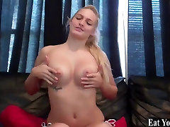 Get ready to swallow a hot load of your own cum CEI
